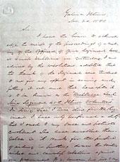 Letter from Congressman Elihu Washburne to Colonel John E. Smith