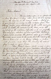 TRANSCRIPTION OF GENERAL JOHN E. SMITH LETTER TO HIS TROOPS DELIVERED MARCH 10, 1863